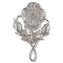 Pewter Poppy Brooch